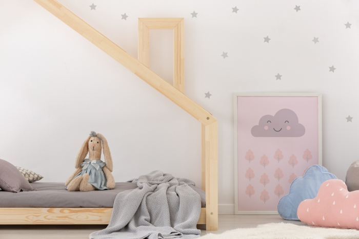DMS 140x200cm Łóżko dziecięce domek Mila ADEKO