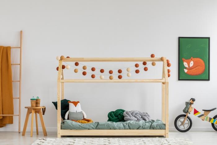 Mila MM 60x120cm Łóżko dziecięce domek Mila ADEKO