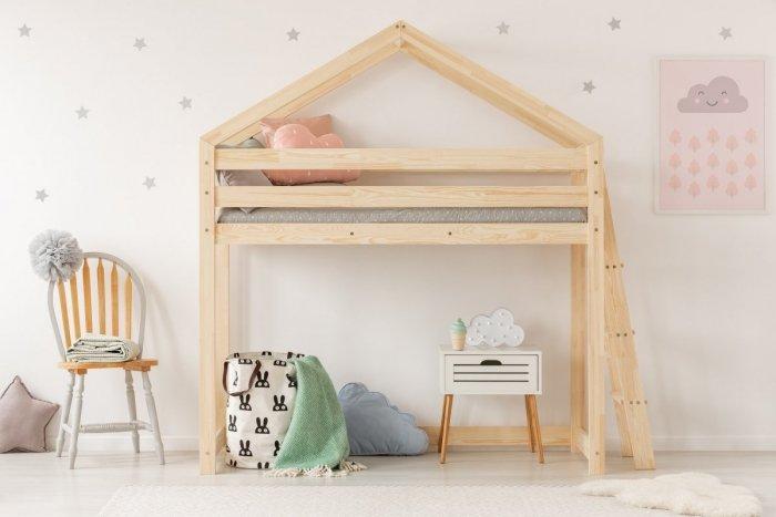 DMPBA 80x200cm Łóżko piętrowe dziecięce domek Mila ADEKO