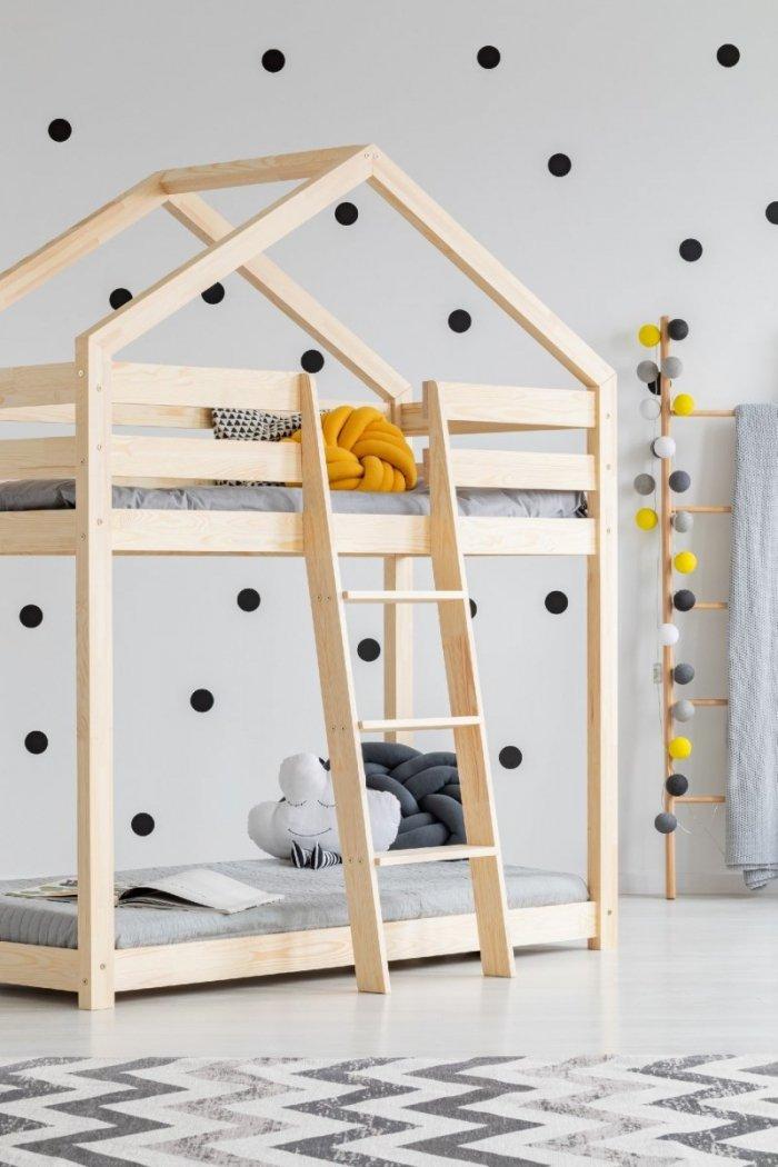 DMP 90x200cm Łóżko piętrowe dziecięce domek Mila ADEKO