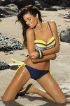 Kostium kąpielowy Marko Polly Blu Scuro-Twetty M-294 żółte wiązania (125)