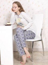 Roksana Molly 546 Szaro-Niebieska piżama damska