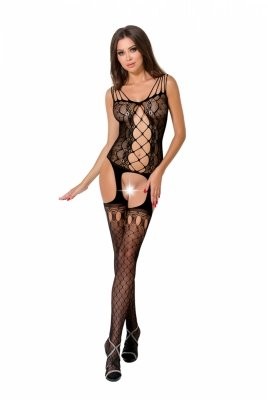 Passion BS056 black Bodystocking