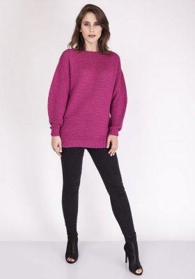 MKM Beatrix SWE 097 Amarantowy sweter