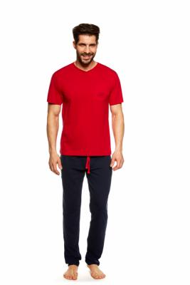 Henderson Upon 36829-33X Czerwono-granatowa piżama męska