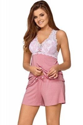 Babella Joanna Pastelowy róż piżama damska