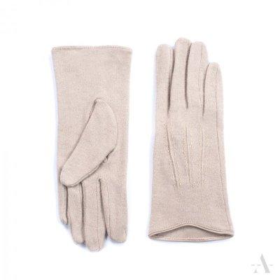 Art of Polo Melbourne Jasnobeżowe rękawiczki
