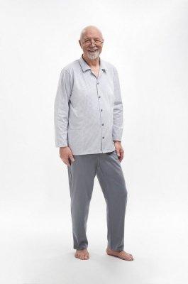 Martel Antoni 403 Rozpinana piżama męska plus size