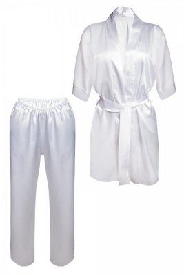 DKaren Keira Biały piżama damska