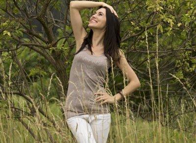 Vittoria Ventini Emilie mocca bluzka damska