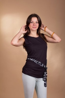 Lookat Lucinda 3980 grafitowa bluzka damska