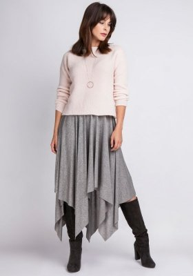 MKMSwetry Chloe SWE 091 różowy sweter