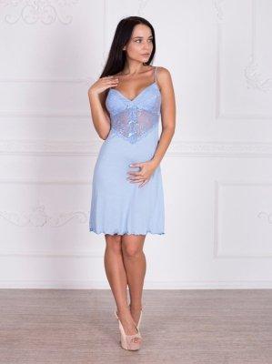 Roksana Beatrice 332 Light Blue (Jasnoniebieska) koszula nocna