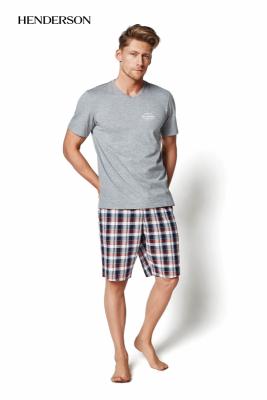 Henderson Mash 35007-90X Szara piżama męska
