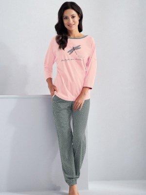 Luna Molly 561 Jasnoróżowa piżama damska