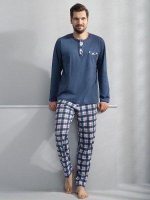 Luna Lucas 748 Niebieska piżama męska