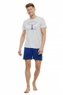 Henderson Echo 35737-09X Popielato-niebieska piżama męska