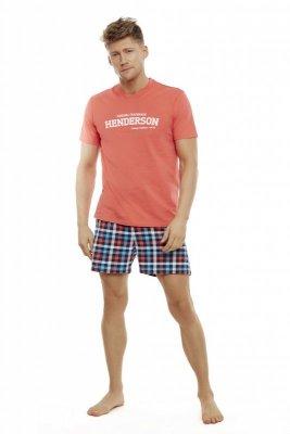 Henderson Edit 35736-32X Koralowa piżama męska