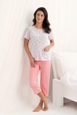 Luna  Simona 547 Koralowa piżama damska
