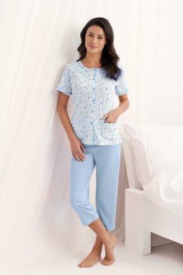 Luna  Simona 547 Niebieska piżama damska