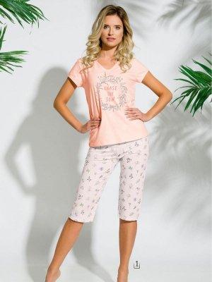 Taro Donata 2169 K1 Morelowa piżama damska