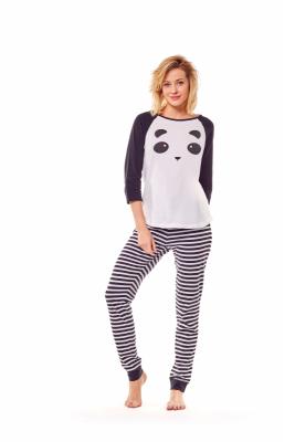 Henderson Milky 36168-01X Biało-czarna piżama damska