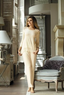 Babella Olimpia Ecru piżama damska