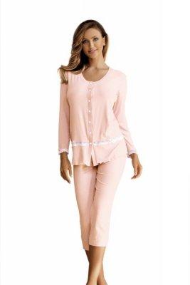 Babella Felicja Brzoskwiniowa piżama damska