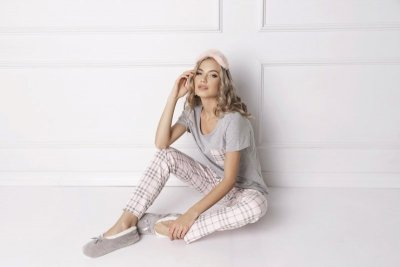 Aruelle Londie Long Grey piżama damska