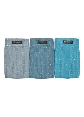 Henderson 1446 Szare-jeans-turkus (zestaw 3 sztuk) slipy