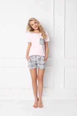 Aruelle Londess Short Pink-Grey piżama damska