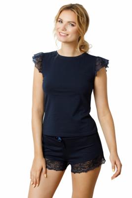 Ensimi Navy Luna piżama damska