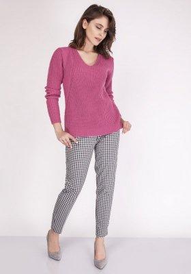 MKMSwetry Victoria SWE 123 Różowy sweter damski