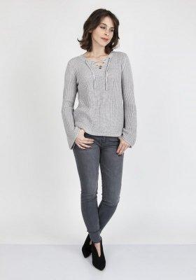 MKMSwetry Kylie SWE 117 Szary sweter damski