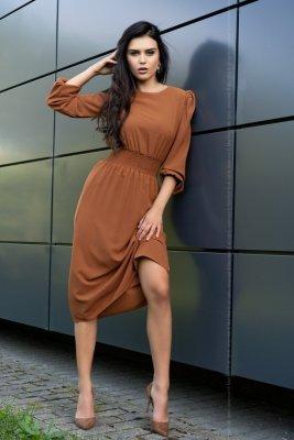Merribel Bouquetina Camel sukienka damska