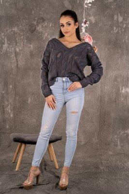 Merribel Gloris Graphite sweter damski