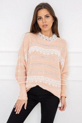 Vittoria Ventini Amanda Lace Pink Y5201 sweter damski