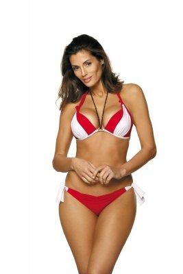 Marko Kostium kąpielowy Trish M-458 Rosso Passione-Bianco