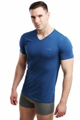 Pierre Cardin Vneck jeans Koszulka męska