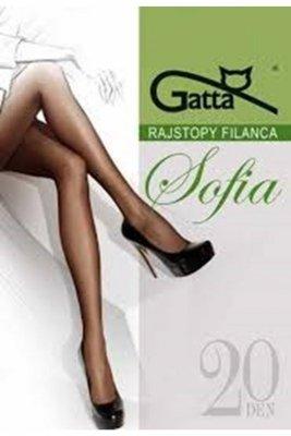 Gatta elastil sophia plus brązowy rajstopy
