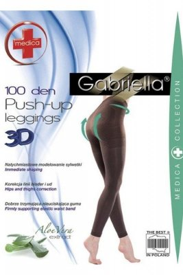 Gabriella 172 push up 100 den nero legginsy