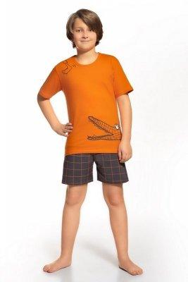 Cornette 790/35 Hungry crocodile pomarańczowy piżama chłopięca