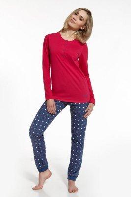 Cornette 667/58 Blanca czerwony piżama damska