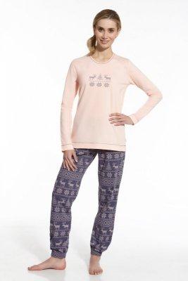 Cornette 673/43 Nordic morelowy piżama damska