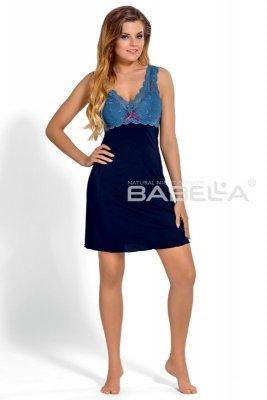 Babella larisa czarny lawenda koszula nocna