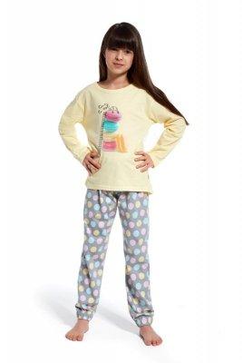 Cornette 594/87 Time to rest 3 zółty piżama dziewczęca