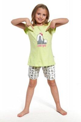 Cornette krótki rękaw 788/57 seledyn piżama dziewczęca