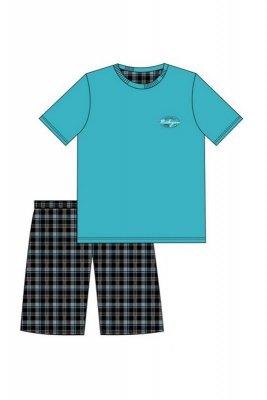 Cornette 326/66 Michigan turkusowy piżama męska
