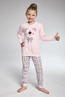 Cornette 594/96 Teddy różowy piżama dziewczęca