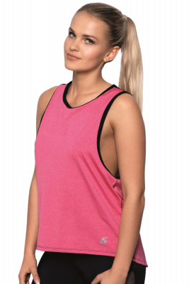 Eldar Fit Abel Różowo-czarna koszulka damska
